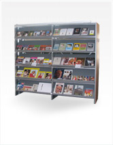 Stationary Shelves for magazines